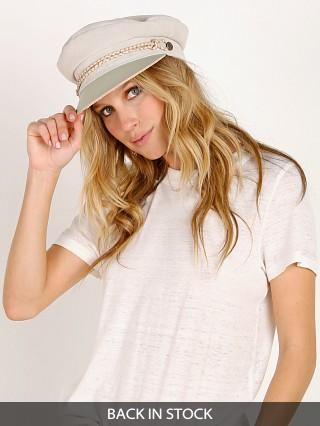 Brixton Kayla Leather Cap Cream