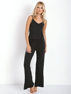 Splendid Intimates Essentials Long Romper Black