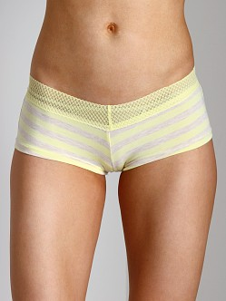 Splendid Intimates Fruit Fusion Lace Mesh Girl Short Lemon Yello