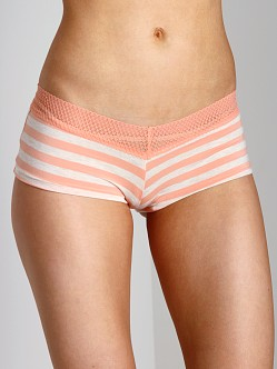 Splendid Intimates Fruit Fusion Lace Mesh Girl Short Papaya Stri