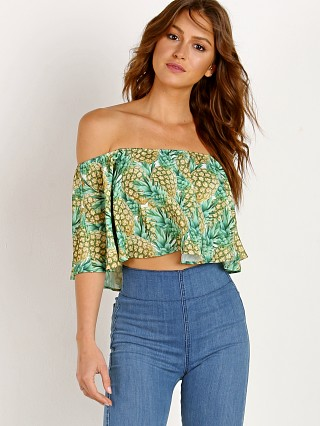 Show Me Your Mumu Heidi Ruffle Crop Pineapple Paradise