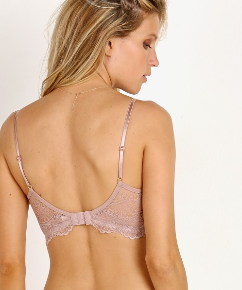 Only Hearts Whisper Sweet Nothings Longline Bra Rose Wood