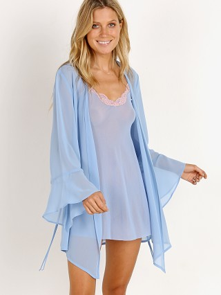 Model in divine blue Only Hearts Coucou Cover Robe