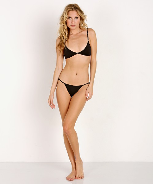 Only Hearts Delicious String Bikini Black