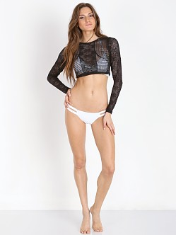 Vitamin A Cannes Cropped Rashguard Black
