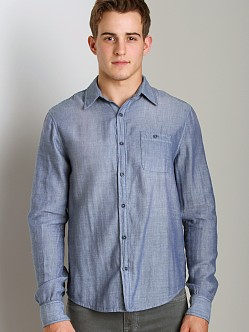 Joe's Jeans Relax Single Pocket Shirt Dark Blue