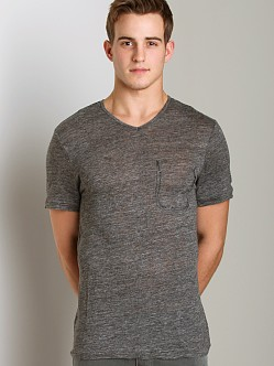 Joe's Jeans Billie V-Neck Shirt Heather Charcoal