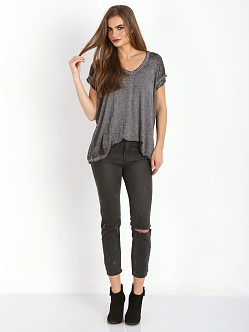 Free People Keep Me Tee Charcoal