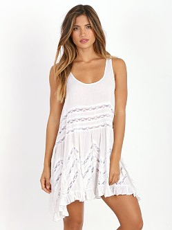 Free People Voile Trapeze White Combo