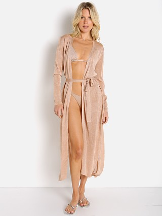 Model in champagne L Space Starlet Duster