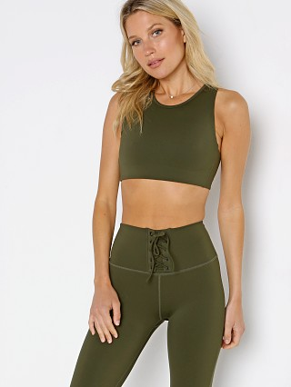 Model in army Splits59 Glenda Techflex Sports Bra