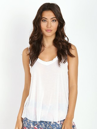 LNA Clothing Raw V Neck White