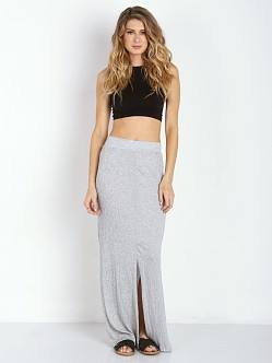 LNA Clothing Gauze Column Skirt Heather Grey