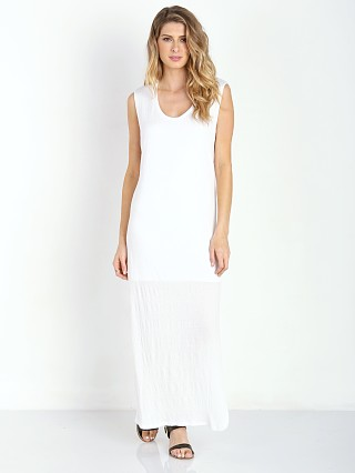 LNA Clothing Rancho Column Dress White