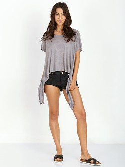 LNA Clothing Ribbon Top Heather Grey
