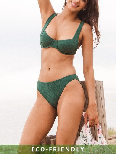 Model in lagoon Peony Hi Line Pant Bikini Bottom