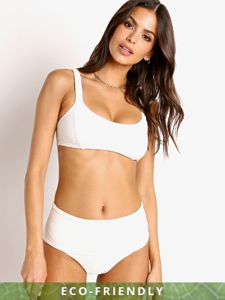 Model in cream L Space Eco Jess Bikini Top