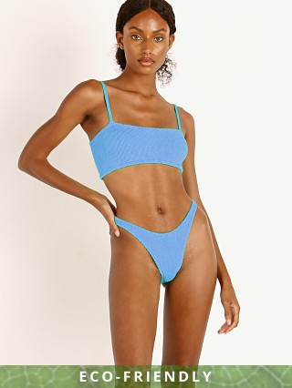 Model in mid blue Hunza G New Gigi Bikini