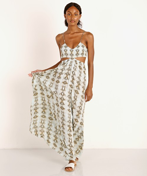 Indah Innocence Printed Maxi Dress Water Viper