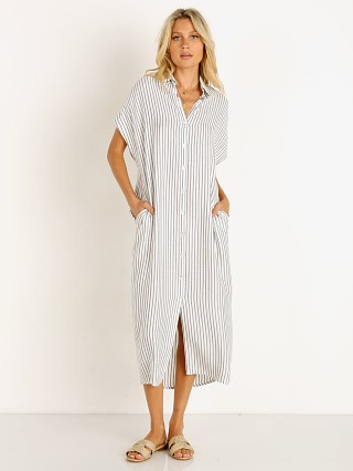 Indah Delphina Button Up Midi Shirt Dress Rabat