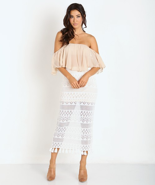 Winston White Cryprus Skirt Cream Crochet