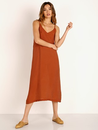 LACAUSA Alma Slip Dress Almond
