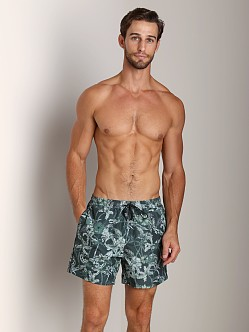Hugo Boss Roosterfish Swim Shorts Olive