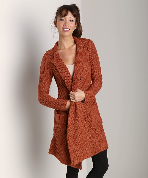 Free People Buttermilk Biscuit Cardi Rust