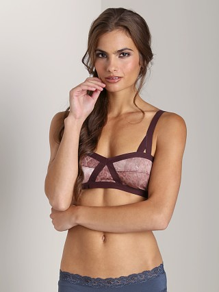 Free People Golden Triangle Bra Brown Leopard