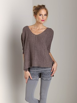 Free People Cozy Cat Pullover Soot
