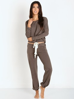 Eberjey Heather Cropped Pant Tapenade