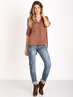 Bella Dahl Split Back Button Down Heather Rose