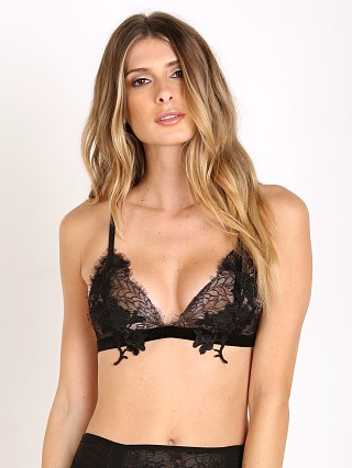SKIVVIES by For Love & Lemons Flower Blossom Bralette Black