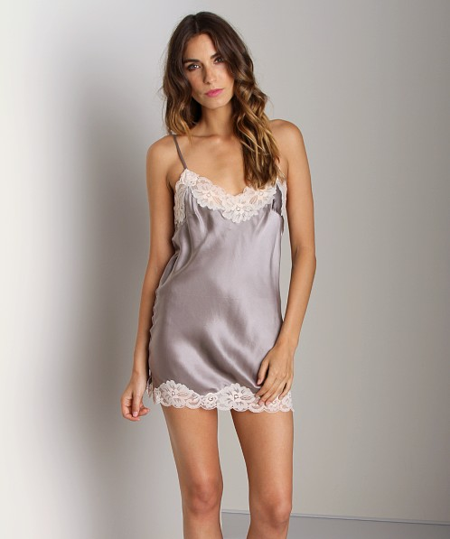 Gold Hawk Floral Tunic Chemise Grey