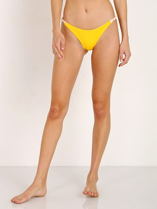 Model in maiz Eberjey So Solid Perry Bikini Bottom