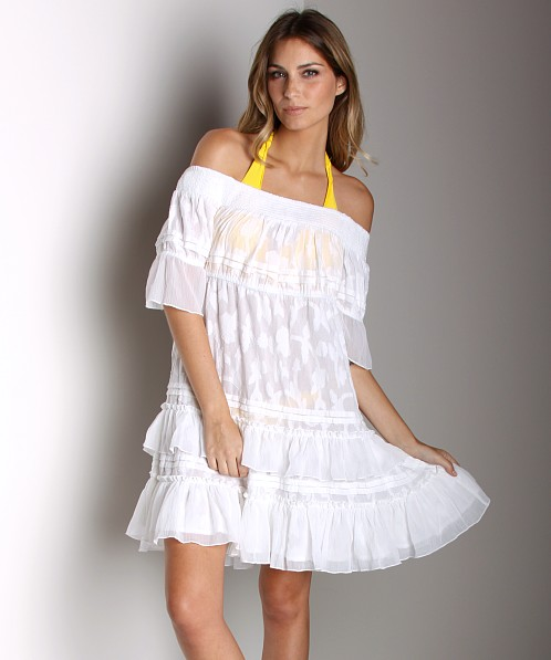 Free People Cover Up Dress White