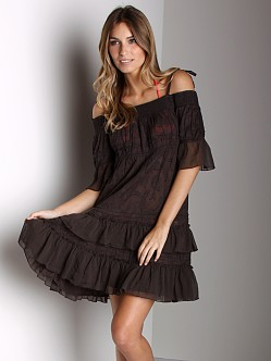 Free People Cover Up Dress Washed Black
