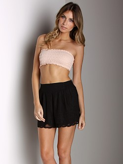 Free People Smocked Bandeau Shell