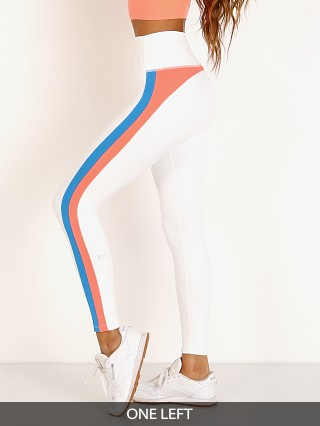 Splits59 Dakota High Waist 7/8 Legging Off White/Neon Coral