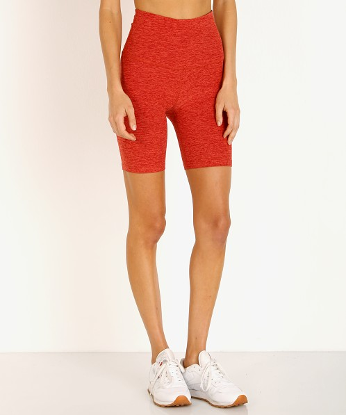 Beyond Yoga Spacedye High Waisted Biker Short Scarlet