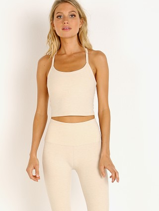 Beyond Yoga Spacedye Slim Racerback Cropped Tank Sandstone Almon