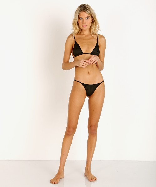 Indah Pax String Side Bikini Bottom Black