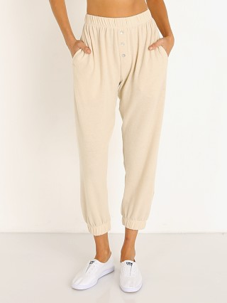 DONNI. Sweater Henley Sweatpants Creme