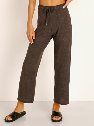 DONNI. Sweater Cropped Flare Sweatpants Charcoal