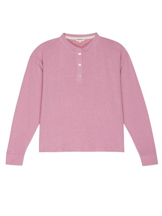 DONNI. Sweater Henley Rose