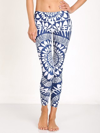 Mara Hoffman Peacefield Long Legging Navy/White