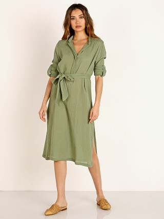 Mikoh Oku Shirt Dress Maui Meadow