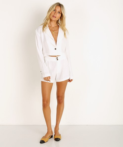 Stillwater The Crop Blazer White