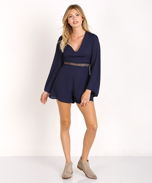 Wyldr Hope So Playsuit Navy