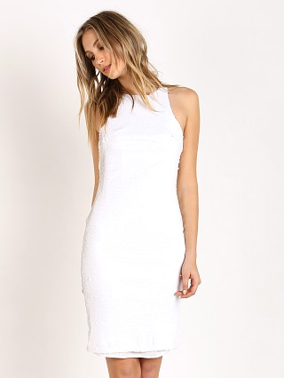 Line & Dot Sequin Dress White